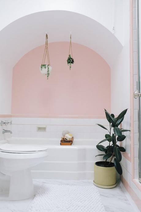 salle de bain rétro rose sunset à san francisco blog déco clemaroundthecorner