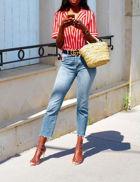 chemise-zara-rayures-jeans-taille-haute-look-chic