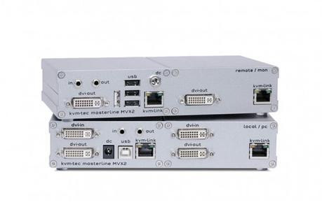 Un extendeur KVM pour les PC équipés d'un double écran chez kvm-tec