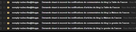 Retrouver ses notifications par mail sur Blogger