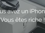 iPhone smartphone utilisé comme indicateur richesse