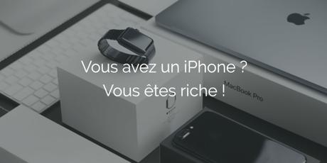 iPhone : le smartphone utilisé comme indicateur de richesse
