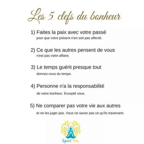 Les 5 clefs du bonheur