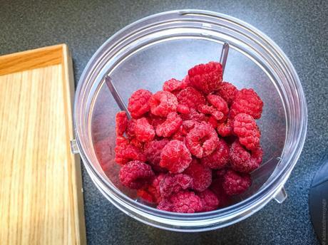 Lutsubo dessert express – Sorbet « minute » à la framboise