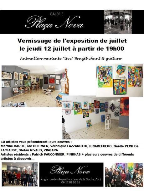 Perpignan | Vernissage Exposition de Juillet de la Galerie Plaça Nova