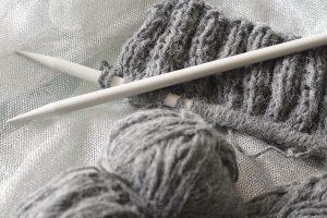 Aiguilles à tricoter pour chaussons de bébé