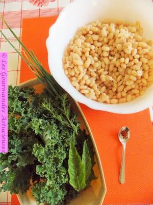 Salade de haricots blancs au Kale (Vegan)