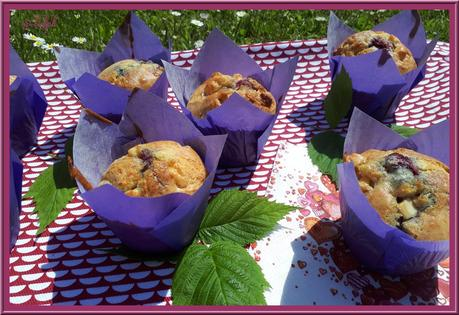 Muffins moelleux aux framboises