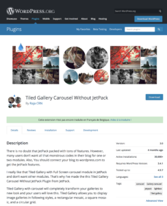 Tiled Gallery Carousel Without JetPack By Raja CRN