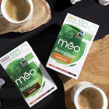 Cafés Méo lance sa gamme de capsules bio compostables