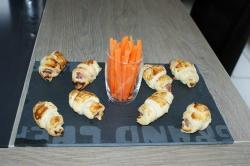 recette du jour: Croissant jambon, gruyère  au thermomix de Vorwerk