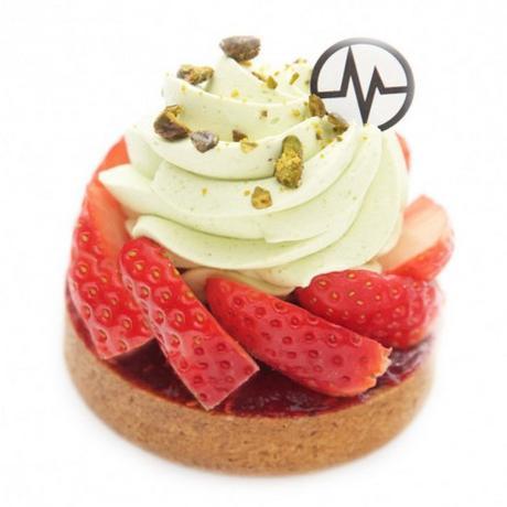 La tarte fraise pistache du chef Christophe Michalak