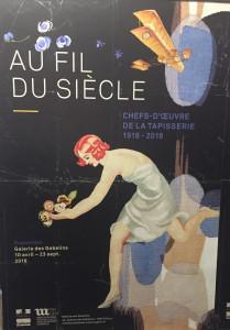 « Au fil des siècles »  Galerie des GOBELINS – Chefs-d'œuvres de la tapisserie 1918-2018
