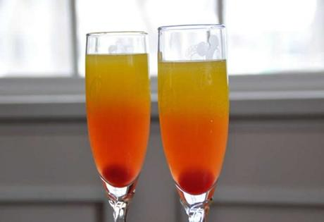 Cocktail ananas grenadine champagne avec thermomix