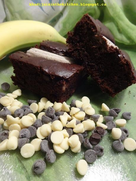 GÂTEAU À LA BANANE ET AU CHOCOLAT / BANANA CHOCOLATE CAKE / BIZCOCHO DE BANANA Y CHOCOLATE / كيك بالموز والشوكولاته