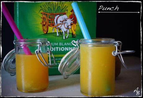 Punch, apéritif au rhum et aux fruits exotiques