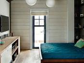élégante chambre coucher accueille espaces bureau dressing