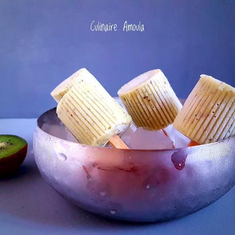 Popsicles ou esquimaux kiwis-coco