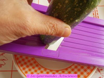Carpaccio de courgette à la crème de Basilic (Vegan)