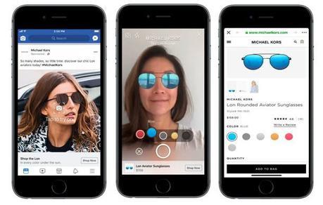 Facebook lance des publicités en réalité augmentée.