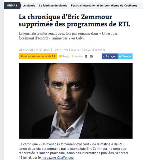 #Zemmour, dégage ! #RTL
