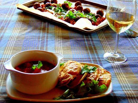 Boulettes et pois chiches bbq au four pour souper de paresseux