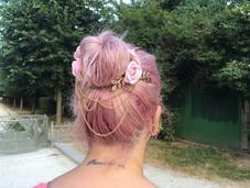 #322 cheveux Lilas nouveaux bijoux