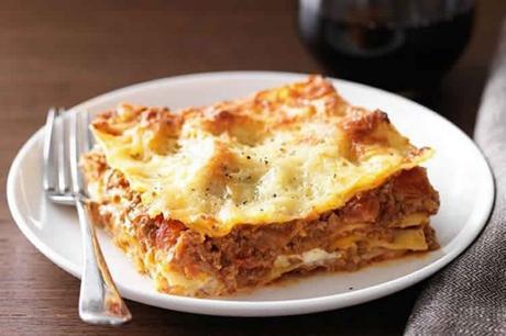 Lasagne viande hachee et creme fraiche
