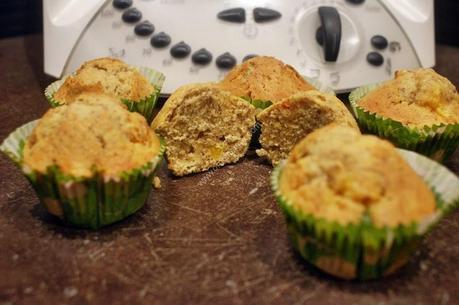 muffins abricot nectarine  au thermomix de Vorwerk