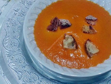 recette du jour: Gaspacho tomates  au thermomix de Vorwerk
