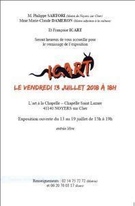 exposition « L'Art à la Chapelle » de Noyers sur cher -Françoise ICART- à partir du 13 Juillet 2018