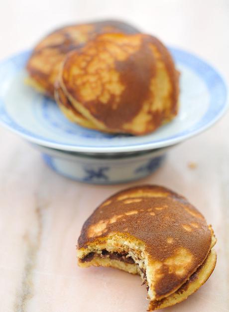Dorayakis, gâteaux japonnais à la plancha
