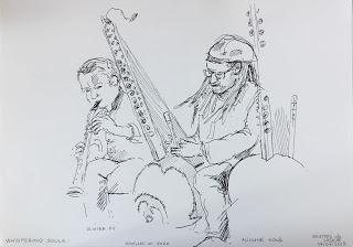Grottes de Lacave, concert du duo Olivier Py (saxophones)...