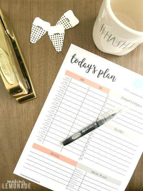 5 modèles de planning journalier / to do list à imprimer - blog un Café avec Clémentine