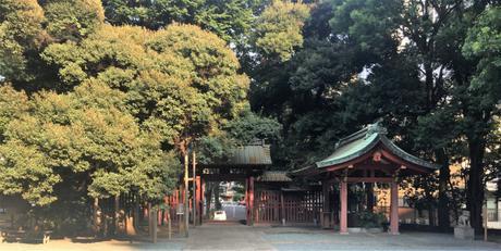 Le sanctuaire Kon-no Hachimangu à Tokyo