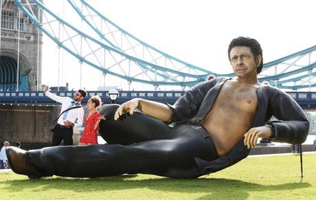 Une gigantesque statue de Jeff Goldblum installée à Londres