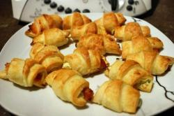 recette du jour: Mini croissants au saumon fumé et au tartare  au thermomix de Vorwerk