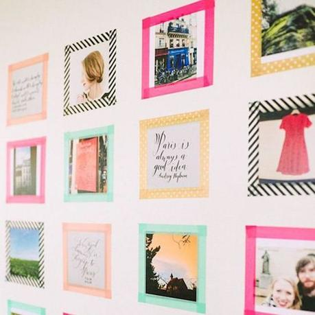que faire avec du masking tape petit cadres photo phrases decoration