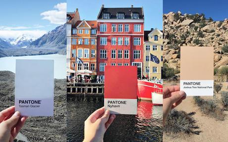 Elle place des couleurs Pantone sur les lieux de ses voyages