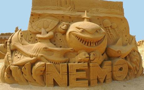 Belgique : 150 sculptures de sable Disney à Ostende