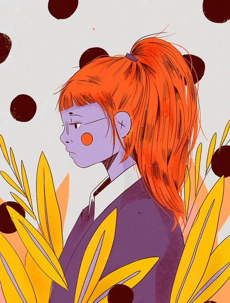 Manga illustrations from Mercedes Bazan