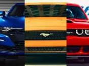 Match comparatif Ford Mustang, Chevrolet Camaro Dodge Challenger