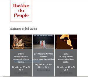 Théâtre du Peuple à BUSSANG (vosges) été 2018