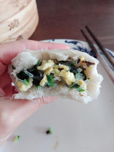 Jiucai bao, bao aux ciboulettes chinoises 韭菜包子