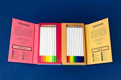 Packaging : Lumie, les boites de crayons de couleur identifiant l'humeur par Jessica Wonomihardjo