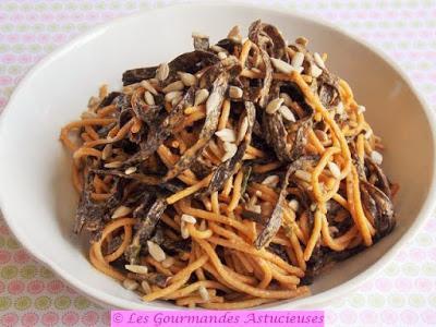 Spaghettis en salade à la saveur iodée (Vegan)