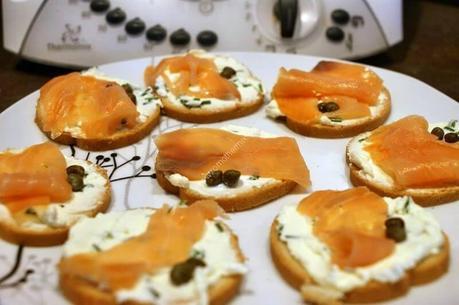 recette du jour: Toast saumon fromage frais  au thermomix de Vorwerk