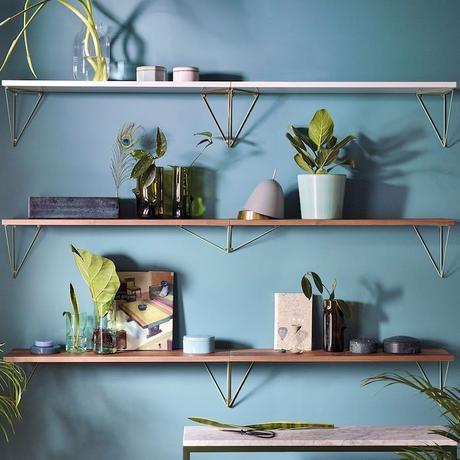 maze interior bleu pythagoras plantes étagère