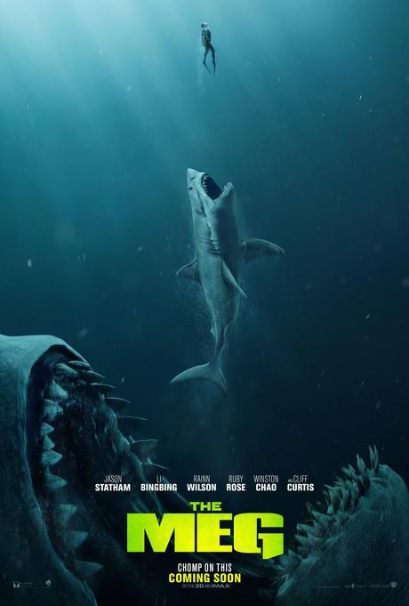 Image result for affiche cinéma meg en eaux troubles