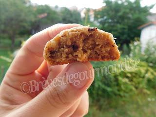 Cookies au praliné, flocons d'avoine et pépites de chocolat